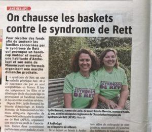 2021-09-13 On chausse les baskets contre le syndrome de Rett